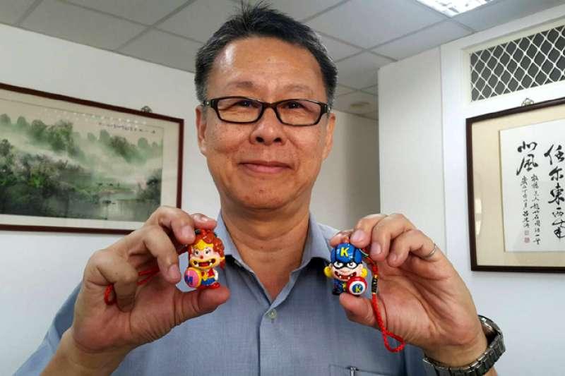 新一代的風獅爺公仔,由陶藝大師王明宗所設計,成為收藏者的最愛。(圖/金門縣府政風處提供)