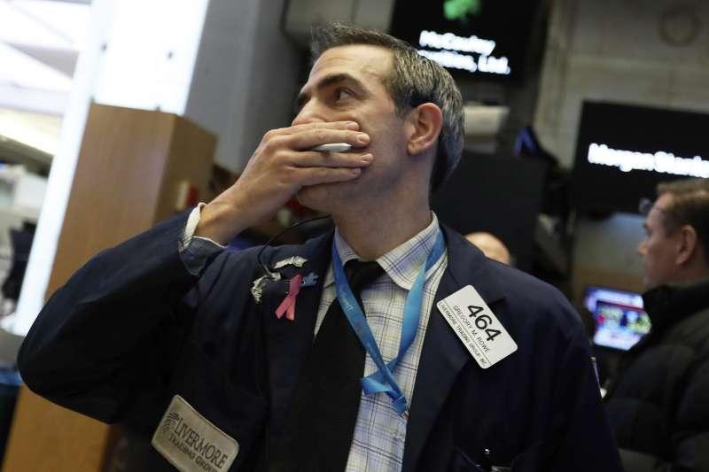 美國股市暴跌(AP)