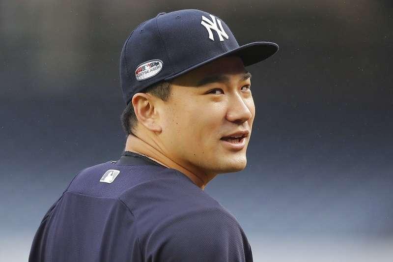 田中將大取代塞佛里諾,生涯第4次擔任洋基開幕戰先發投手。 (美聯社)