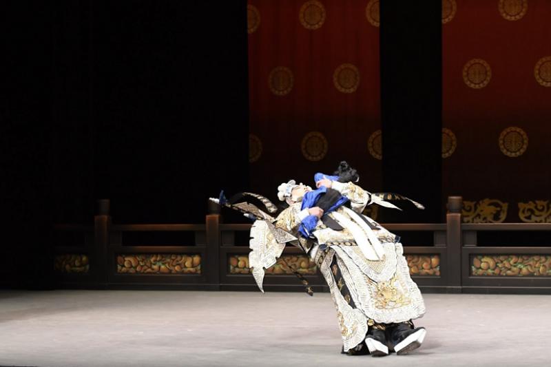 《戰冀州》飾演馬超的李家德(如圖),在《長坂坡》飾演文聘(國光劇團提供)