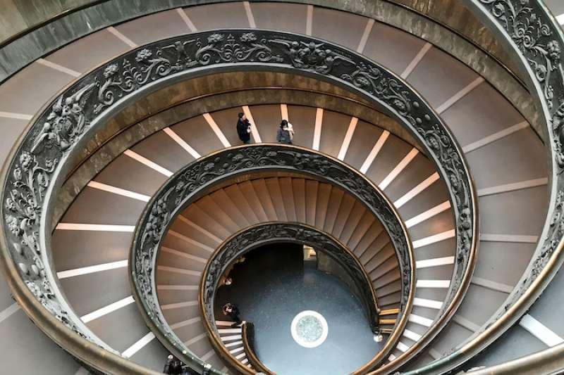 梵蒂岡博物館的穹頂(曾廣儀攝)