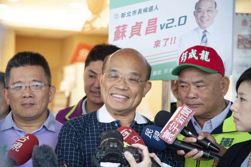民進黨新北市長候選人蘇貞昌。(資料照片,蘇貞昌辦公室提供)
