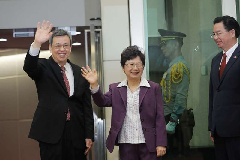 副總統陳建仁今(16)晨返台,公開談話表示「聖誼專案」圓滿落幕,並談到此行歷程及收獲。(取自總統府)