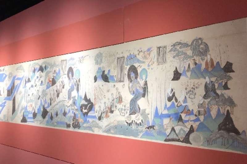 常沙娜10多歲時臨摹的《五百強盜成佛圖》。(新華社)