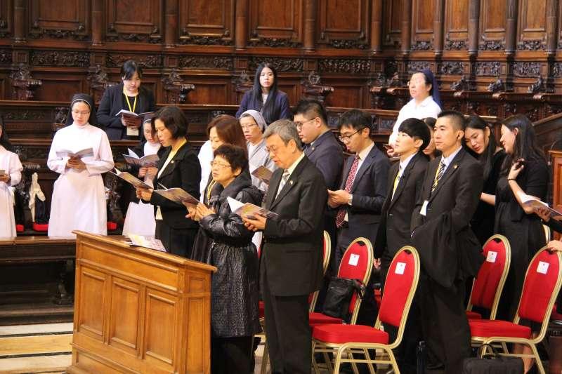 2018年10月13日, 「聖誼專案」,副總統建仁參加「為臺灣與世界和平祈福彌撒」(總統府)