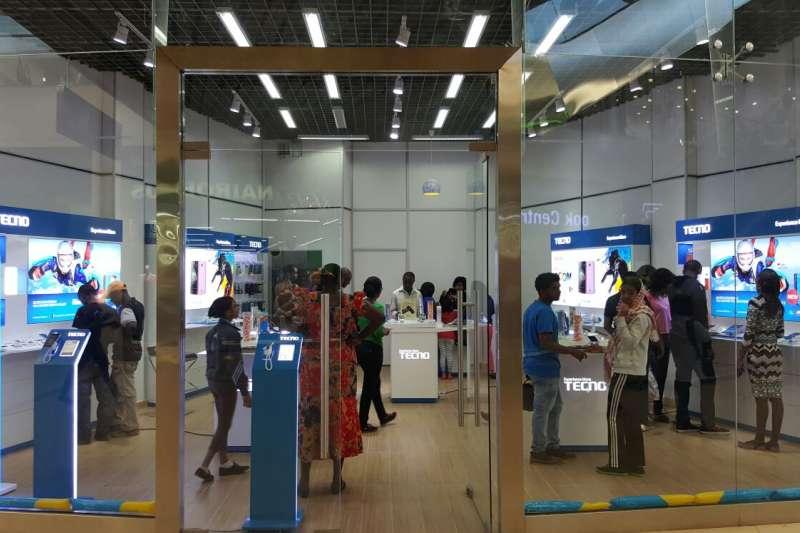 中國手機品牌傳音(Transsion)攻占非洲市場,圖為旗艦品牌Tecno在肯亞奈洛比的旗艦店(翻攝傳音官網)