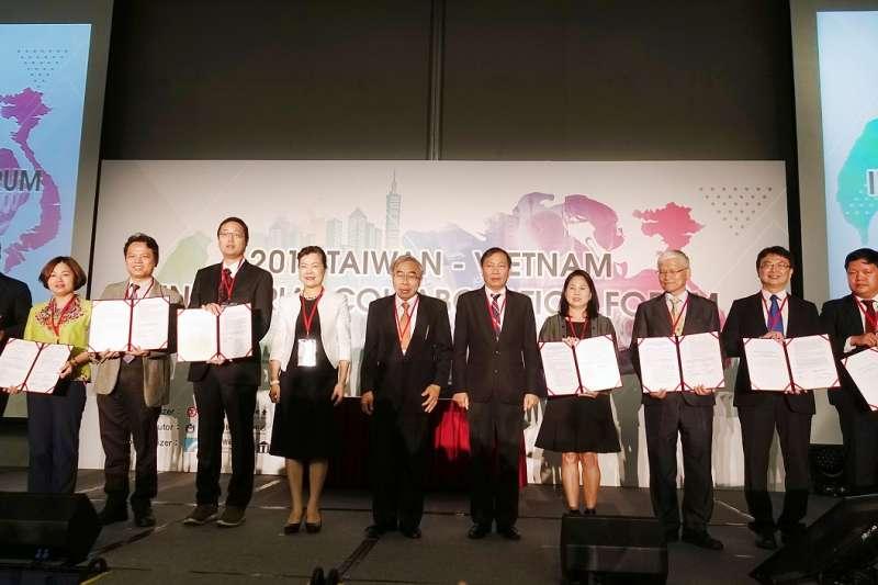 中華民國全國工業總會與越南工商會(VCCI)共同舉辦「2018臺灣越南產業合作論壇」。(圖/經濟部工業局提供)