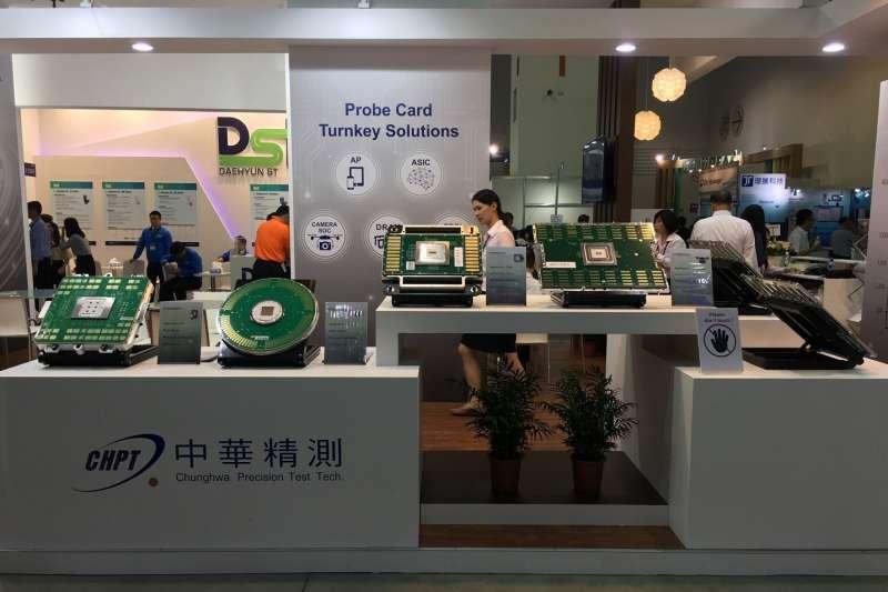 2018年9月5日至9月7日,中華精測攤位(I 2300)於南港展覽館展出五大應用領域之探針卡(Probe Card)。(取自中華精測官網)