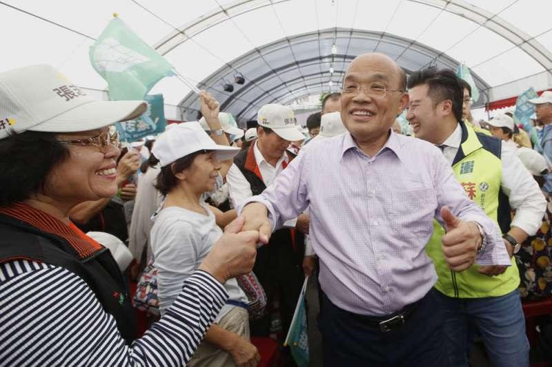 蘇貞昌任台北縣長時的政績,讓他的選舉募款籌措較為容易。(郭晉瑋攝)