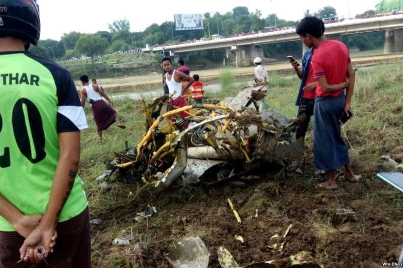 中國製造的兩架殲-7戰鬥機在緬甸墜毀,導致三人死亡。(美國之音)