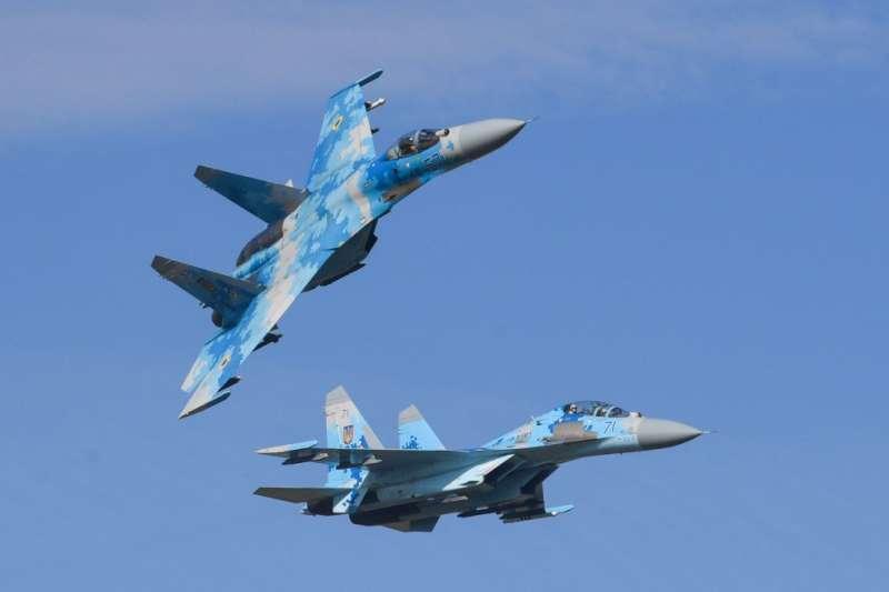 烏克蘭空軍的蘇愷-27(Su-27)。(烏克蘭國防部官網)