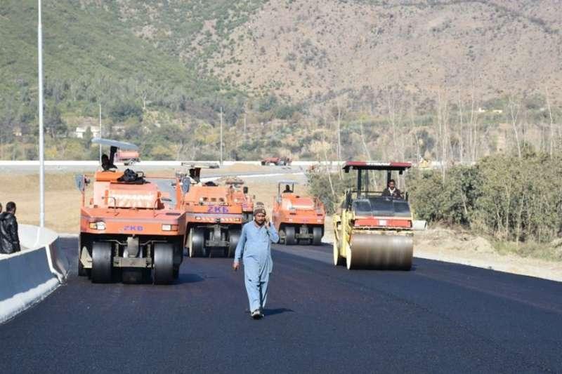 巴基斯坦哈利普爾正在進行的一帶一路項目。(美聯社)