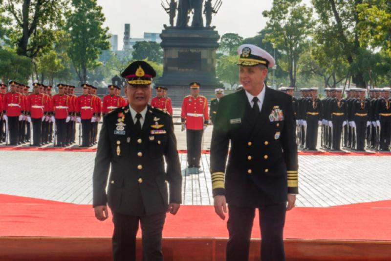 美軍印太司令部司令戴維森2018年10月17日訪問泰國(美國國防部照片)