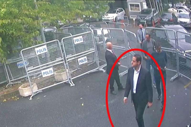 曾任沙烏地阿拉伯駐倫敦大使館一等秘書的穆特勒布(Maher Abdulaziz Mutreb),在沙國記者哈紹吉失蹤當日進入沙國駐伊斯坦堡領事館。(AP)
