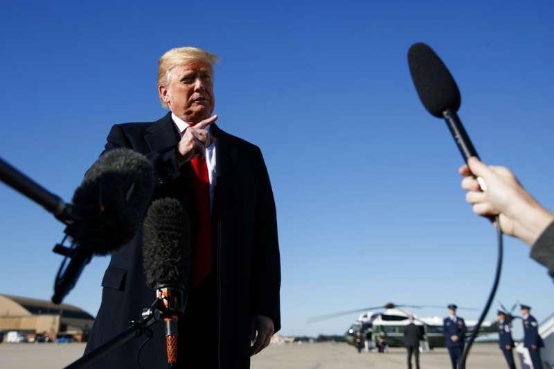 2018年10月18日,美國總統川普相信失蹤的沙烏地阿拉伯記者哈紹吉已經身亡。(AP)