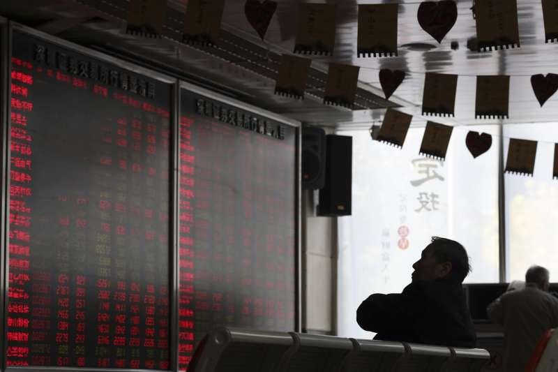 2018年10月,中國股市大幅波動(AP)