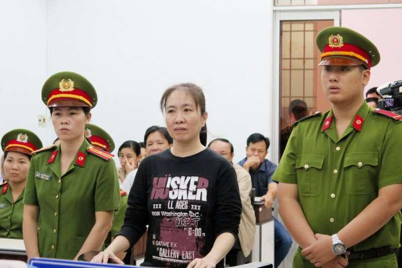 越南蘑菇媽媽阮玉如瓊獲釋。(AP)