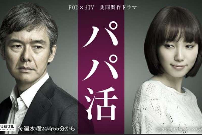 東京都政府於去年禁止未滿18歲的女高中生從事陪伴性質工作後,仍有不少國高中生在網路上「找乾爹」。(翻攝同名日劇官網)