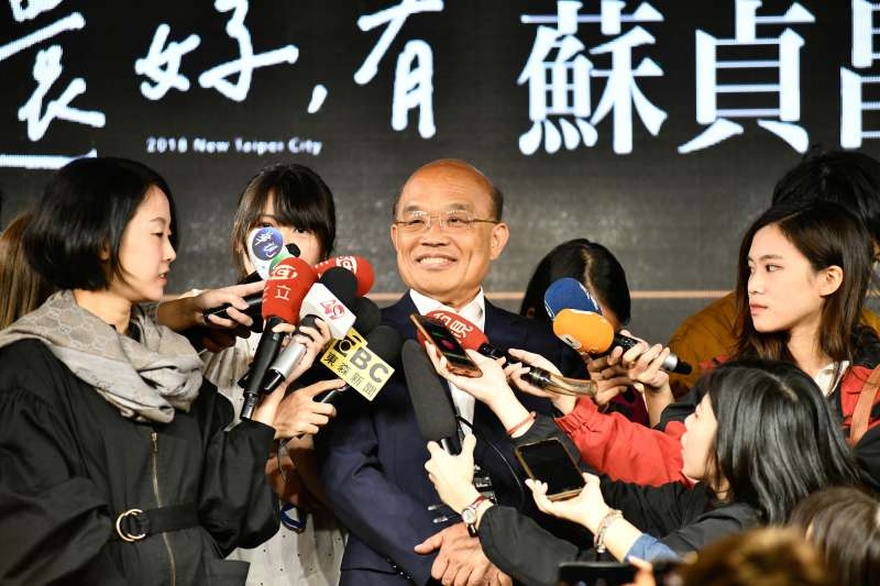 抽到1號主打「台灣最大,新北第一」 蘇貞昌笑稱:好兆頭-風傳媒