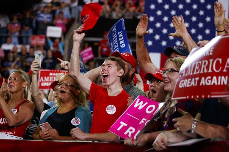 2018年美國期中選舉,共和黨造勢。(AP)