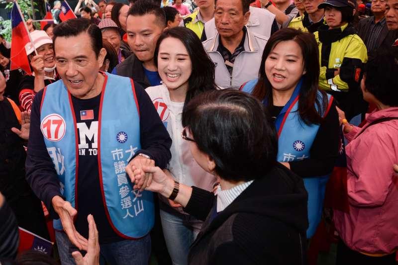 20181020-耿葳競選總部成立大會,前總統馬英九出席。(甘岱民攝)