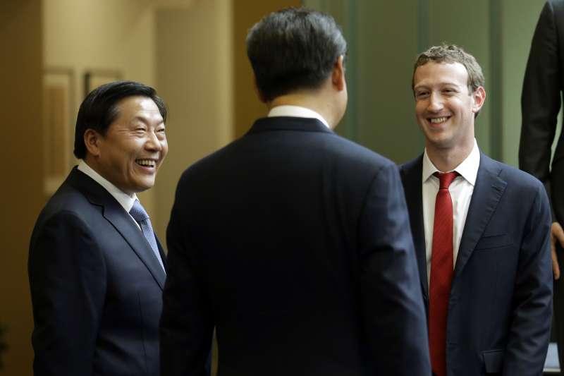 前「中國網路沙皇」魯煒、習近平、臉書創辦人祖克柏(AP)