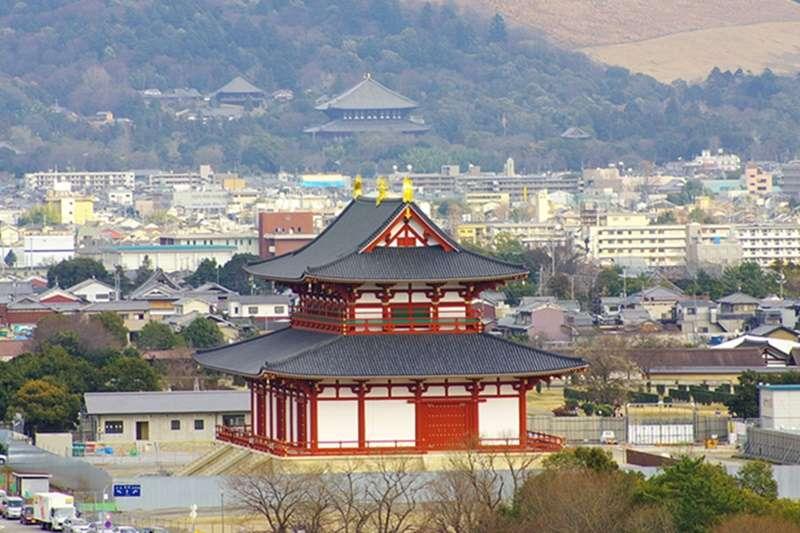 位於奈良的平城宮大極殿,於1922年被指定為國家史蹟。(圖/維基百科)