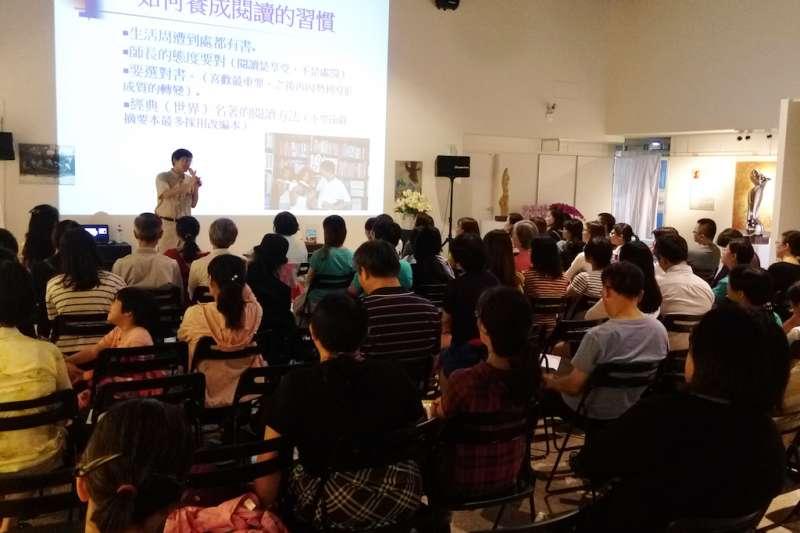 竹塹文學獎系列推廣活動經常座無虛席,頗受新竹市民歡迎。(圖/新竹市文化局提供)