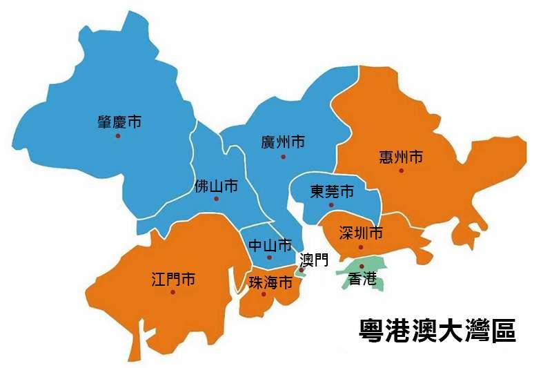 粵港澳大灣區地圖