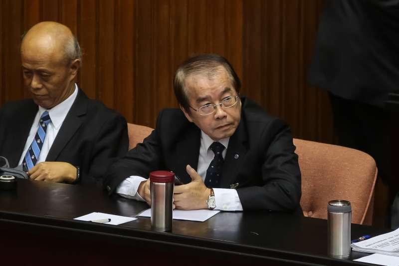 20181023-台鐵局長鹿潔身23日出席立院總質詢。(顏麟宇攝)
