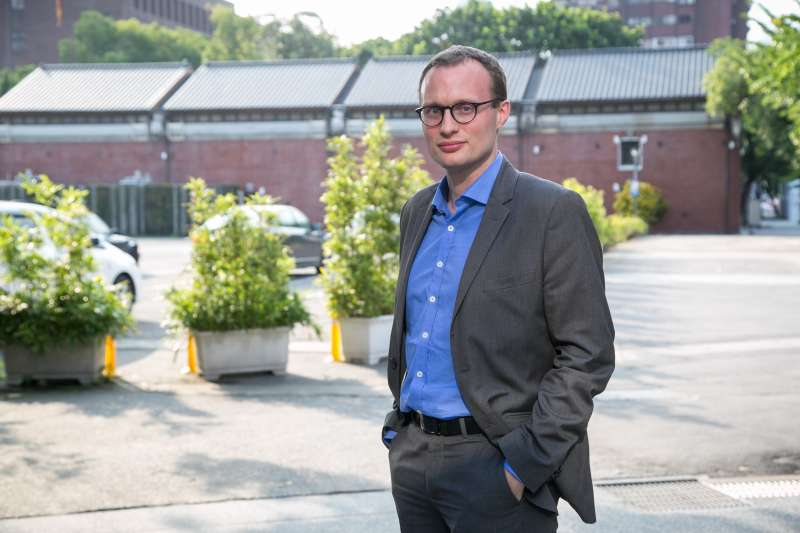 20181025-專訪法國 VR 新創公司,執行長 François Klein。(顏麟宇攝)