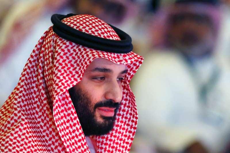 2018年10月24日,沙烏地阿拉伯王儲穆罕默德.本.薩勒曼(Mohammed bin Salman)出席未來投資倡議論壇。(AP)