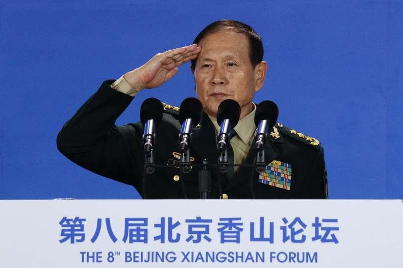 2018年10月25日,第八屆北京香山論壇在北京國際會議中心開幕,中國國防部長魏鳳和出席(AP)