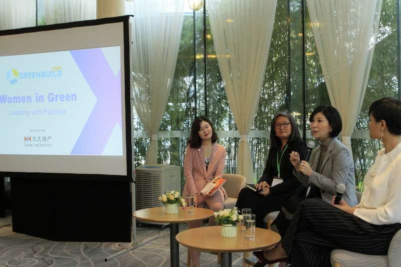 郭珊珊女士受主辦方特別邀請,在「她力量(Women in Green)」早餐會上分享帶領台達邁向國際品牌及推動企業可持續發展的心得與成果