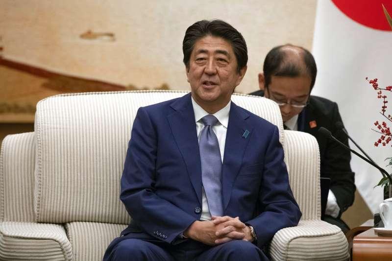 2018年10月25日,日本首相安倍晉三正式出訪中國。(AP)