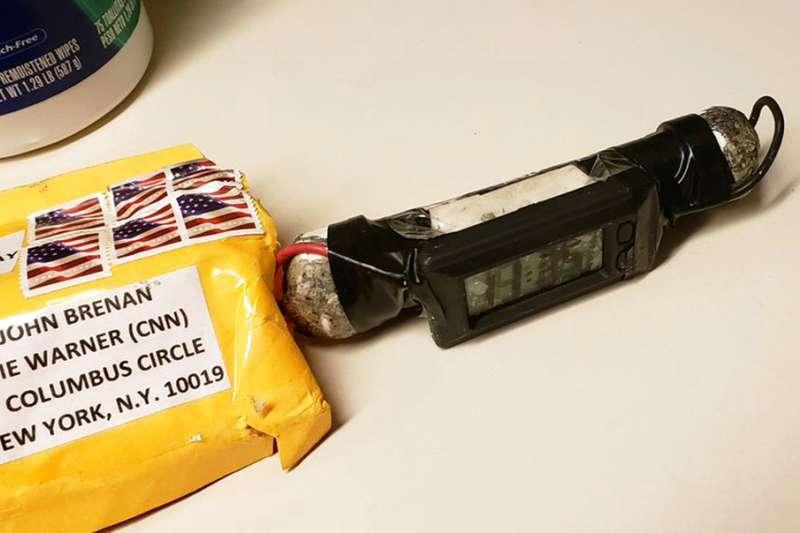 寄到CNN辦公室,收件人署名布瑞南的包裹炸彈。(美聯社)