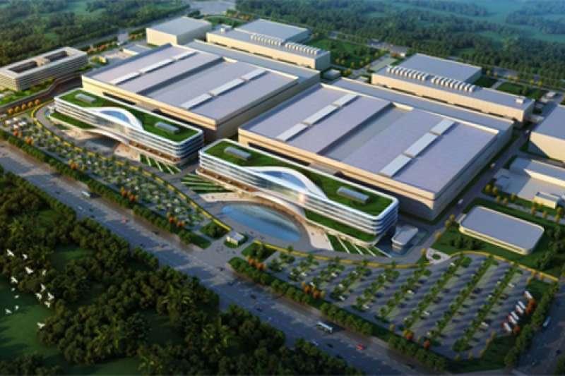 2018年10月29日,美國商務部限制美國公司向中國半導體大廠福建晉華出口產品、技術。圖為福建晉華整體鳥瞰圖。(福建晉華官網)