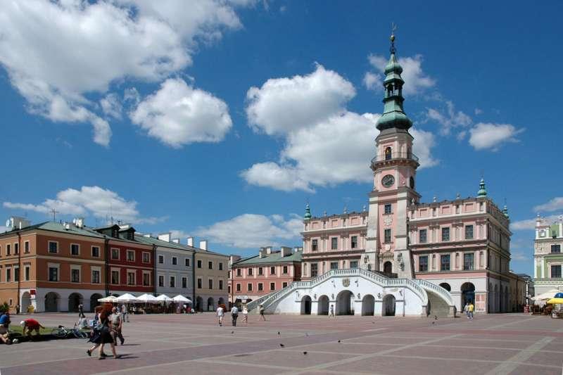 波蘭的扎莫希奇(Zamość)古城被聯合國教科文組織(UNESCO)列入世界文化遺產。(Mceurytos @Wikipedia/ CC BY-SA 3.0)