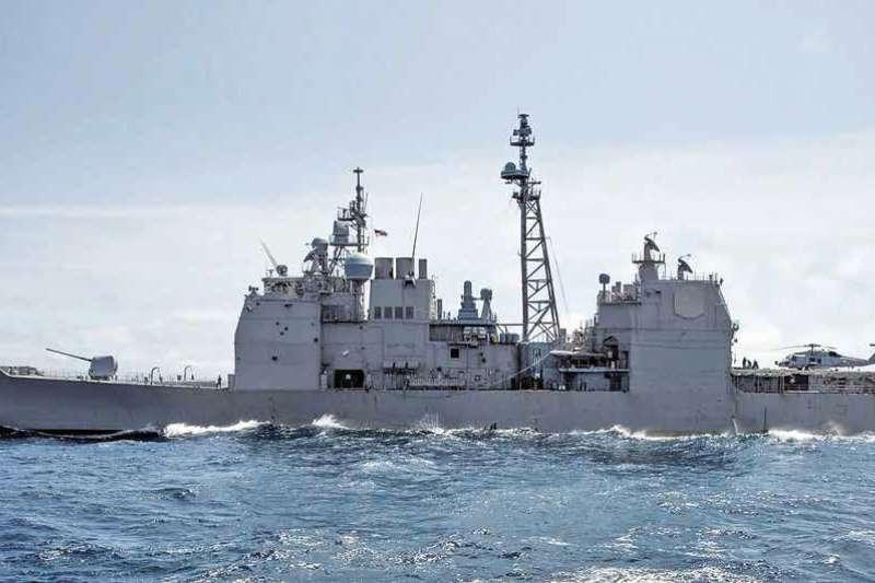 美國國防部發表美軍雙艦穿越台灣海峽(Facebook U.S.Navy/)