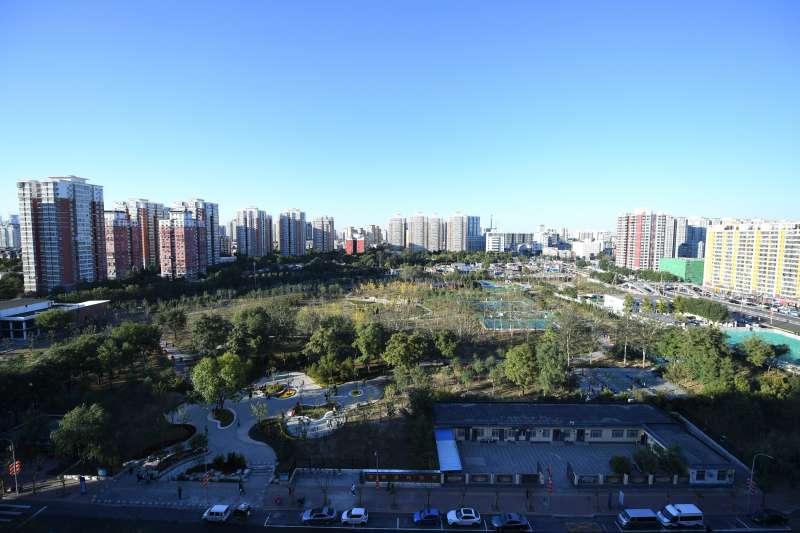 這是俯拍的嘉囿城市休閒公園(新華社)