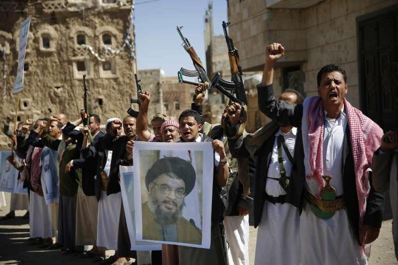 伊朗支持的葉門胡塞組織與黎巴嫩真主黨(AP)