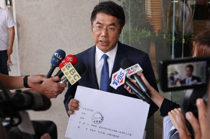 民進黨台南市長候選人黃偉哲陣營表示,如果「大創案」指控的內容被證明為不實,國民黨立委與高思博應該向黃偉哲和社會大眾道歉。(黃偉哲競選辦公室提供)
