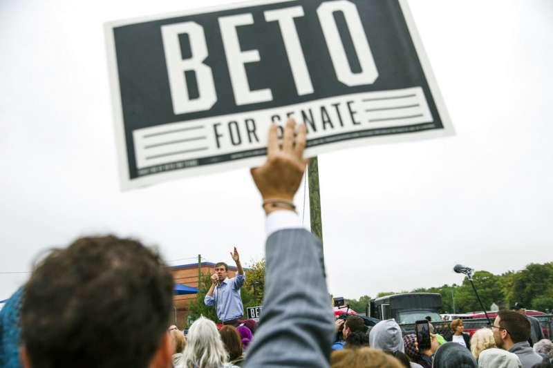 2018美國期中選舉、德州燦議員選舉、民主黨候選人歐洛克。(AP)