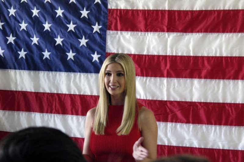 美國總統川普女兒伊凡卡出席共和黨候選人造勢活動(AP)