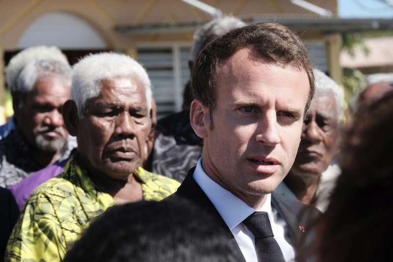 2018年5月,法國總統馬克宏走訪南太平洋海外屬地「新喀里多尼亞」(AP)