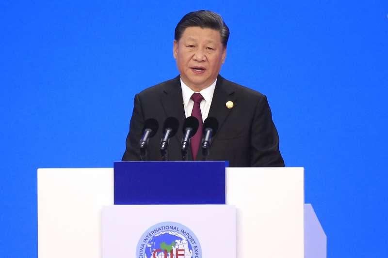 2018年11月5日,首屆中國國際進口博覽會在上海開幕,中國國家主席習近平出席開幕式(AP)