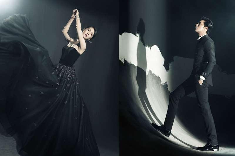 金馬入圍形象照曝光,謝盈萱(左)裙舞展現力與美,邱澤(右)眼神超「殺」狂圈粉。(金馬執委會提供/影像合成:風傳媒)