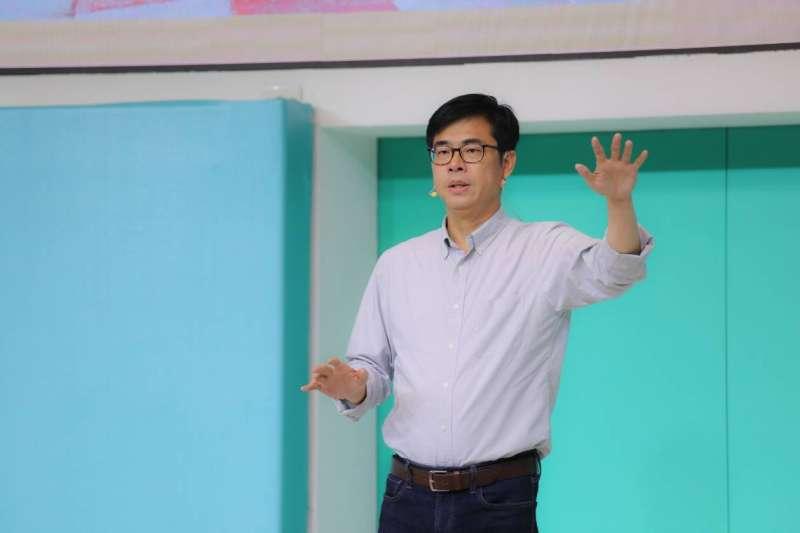 民進黨高雄市長候選人陳其邁批評對手韓國瑜旗山造勢,選舉不要那麼殺戮。(資料照片,陳其邁辦公室提供)