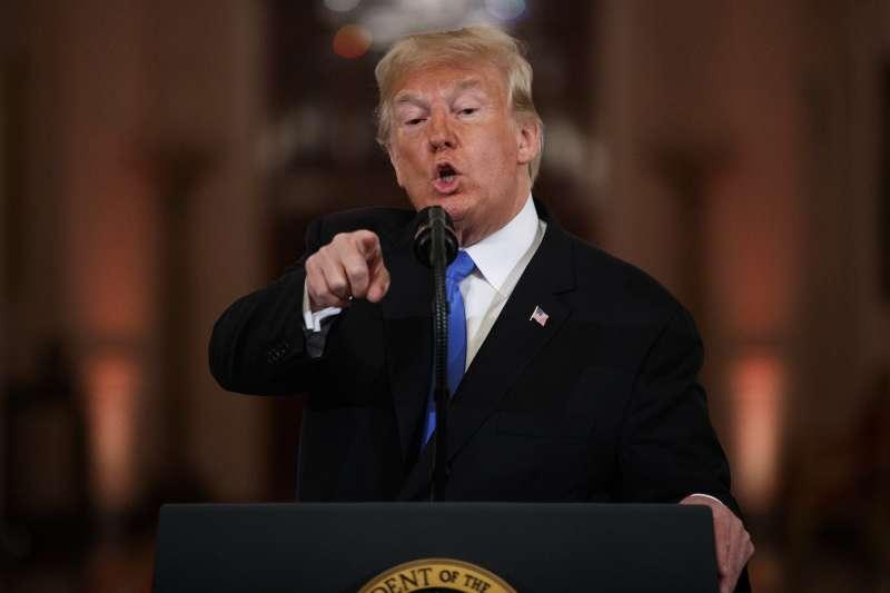 美國總統川普在這次期中選舉,作者認為,認為共和黨當然沒贏,但川普贏了。(AP)