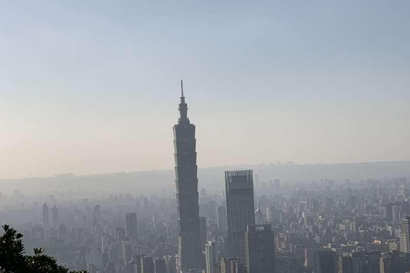 空污、霧霾,101大樓(呂紹煒攝)